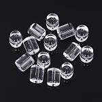 Glass Beads, Column, Clear, 12x10mm, Hole: 1.2mm