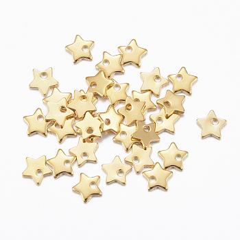 Breloques en 304 acier inoxydable, étoiles du nord, or, 5.5x6x1mm, Trou: 1mm