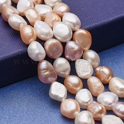 Hebras de perlas de agua dulce cultivadas naturalesPEAR-P060-20-1
