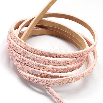 Imitation Leather Cords with Paillette BeadsLC-R010-13P-1