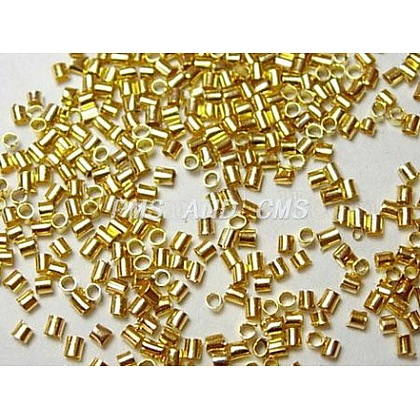 Зажимные бусины из латуниX-KK-S070-G-LF-1