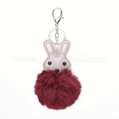 Pom pom ball bunny llaveroKEYC-P046-A04-1