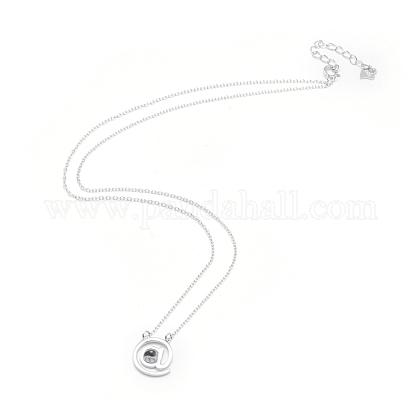 Collares pendientes de plata de ley 925NJEW-F246-08P-1