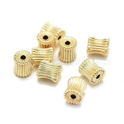 Yellow Gold Filled Corrugated Beads KK-L183-033G-1