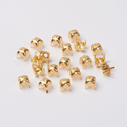 Square Brass Rhinestone Claw SettingsKK-O084-05G-6x6mm-1