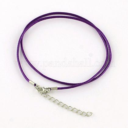 Algodón encerado el collar del cordónMAK-S032-1.5mm-107-1