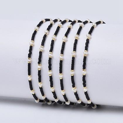 Nylon ajustable pulseras de abalorios trenzado del cordónBJEW-P256-A01-1