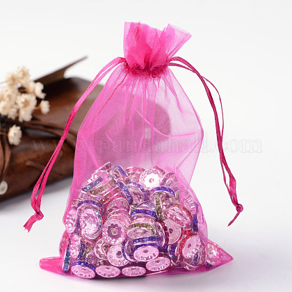 Organza Gift Bags with Drawstring OP-R016-10x15cm-07-1