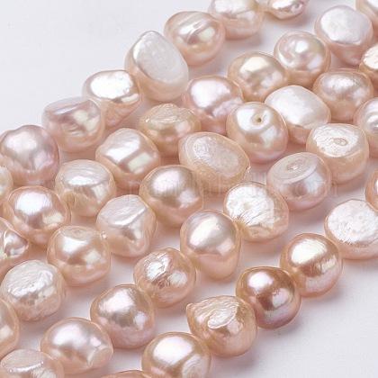 Hebras de perlas de agua dulce cultivadas naturalesPEAR-P002-37-1