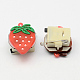 Kid's Strawberry Silicone Led Brooches JEWB-R006-12-4