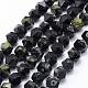 Chapelets de perles en jaspe à pois verts naturelsG-F523-33-10mm-1