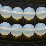 Opalite круглые бусины пряди, 10 мм, Отверстие : 1 мм; около 23 шт / нитка, 15.3