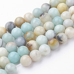 Natural Amazonite Bead Strands, Round, 8~8.5mm, Hole: 1mm; about 45~47pcs/strand, 14.9''(38cm)