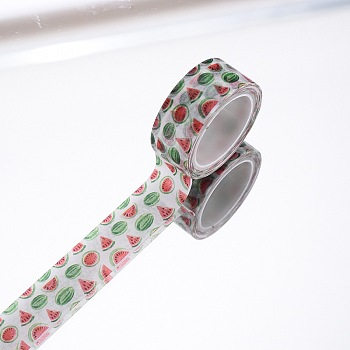 DIY Scrapbook Decorative Adhesive Tapes, Watermelon, Colorful, 15mm, 5m/roll(5.46yards/roll)