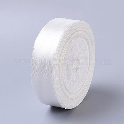 1inches(25mm) Milk White Satin Ribbon Wedding Sewing DIYX-RC25mmY042-1