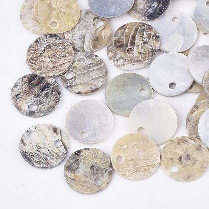Natural Akoya Shell CharmsSHEL-T012-42A-1