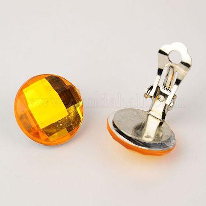 Brass Clip-on EarringsEJEW-JE00851-05-1