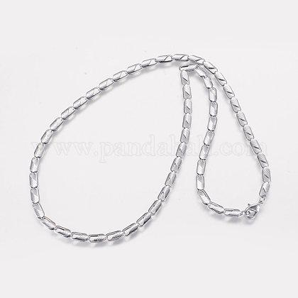 Collares de cadena de hierroNJEW-P176-03-1