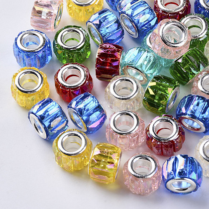 Los abalorios europeos de resina transparenteRPDL-Q023-A-B-1