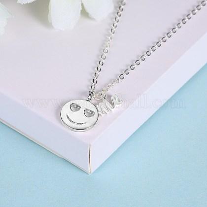 Collares pendientes de plata esterlina de modaNJEW-BB28759-A-1