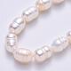 Hebras de perlas de agua dulce cultivadas naturalesPEAR-S012-41B-4