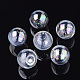 Round Handmade Blown Glass Globe BeadsBLOW-R002-25mm-AB-1