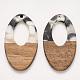 Colgantes de resina transparente y madera de nogalX-RESI-T023-08-F01-1