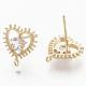 Brass Cubic Zirconia Stud Earring FindingsKK-S354-228-NF-1