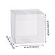 Transparent Plastic PVC Box Gift PackagingCON-WH0052-6x6cm-2