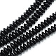 Synthetic Black Stone Bead Spacer StrandsG-R359-3x6-01-1-1