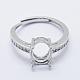925 Sterling Silver Finger Ring ComponentsSTER-G027-18P-1
