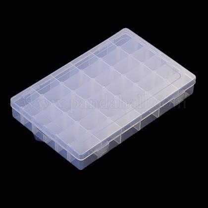 Recipientes de almacenamiento de abalorios de plástico claroC096Y-1