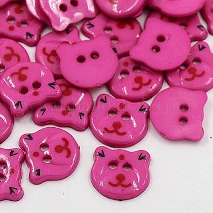 Acrylic Sewing ButtonsX-BUTT-E063-A-09-1