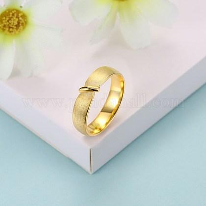 Anillos de dedo de moda de plata esterlinaRJEW-BB29188-C-8-1