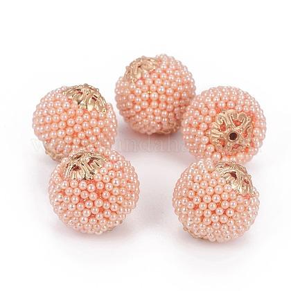 Cuentas de perlas de imitación de resinaRESI-L027-D01-1