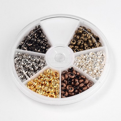 6 Color Iron Crimp Beads CoversIFIN-X0045-5mm-NF-B-1