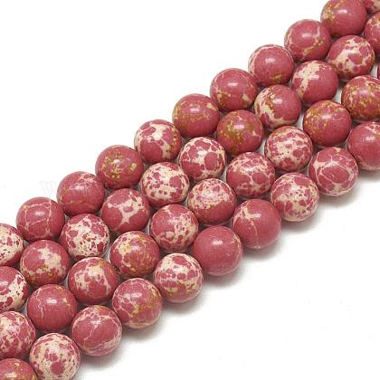 Synthetic Imperial Jasper Beads StrandsG-S300-42F-4mm-1