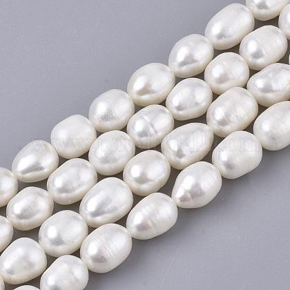 Hebras de perlas de agua dulce cultivadas naturalesPEAR-Q015-036B-01-1