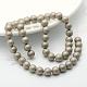 Perlas de concha redonda perlas esmeriladas hebrasBSHE-F013-06A-10mm-2