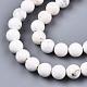 Chapelets de perles en howlite naturelleG-S373-003-6mm-3