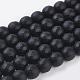 Synthetic Black Stone Beads StrandsG-C059-10mm-1-1