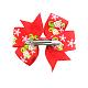 Pinzas de pelo de caimán grosgrain de NavidadOHAR-Q053-M-3