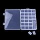 Recipientes de almacenamiento de abalorios de plásticoCON-Q031-02-4