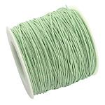 Cordones de hilo de algodón encerado, glauco, 1 mm; Aproximadamente 100 yardas / rollo (300 pies / rollo)