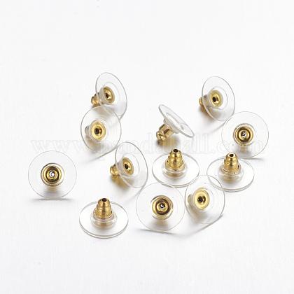 Brass Bullet Clutch Earring BacksEC129-G-1