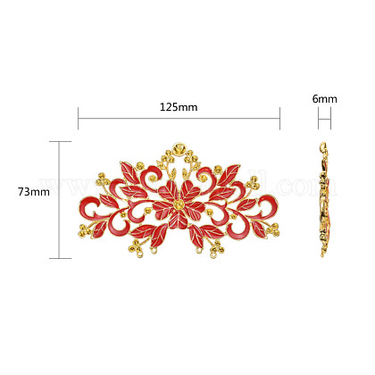 Китайский стиль сплава эмаль горный хрустальX-ENAM-E329-71A-G-1