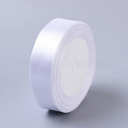 1 inches(25mm) White Satin Ribbon Wedding Sewing DIYX-RC25mmY001-1