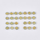 Plating Transparent Acrylic BeadsTACR-T008-01A-2