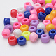 Plastic Beads, Column, Mixed Color, 8x6mm, Hole: 3.5mm; about 2630pcs/500g