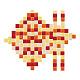Cabujones de vidrio mosaicoGLAA-PH0005-01B-1
